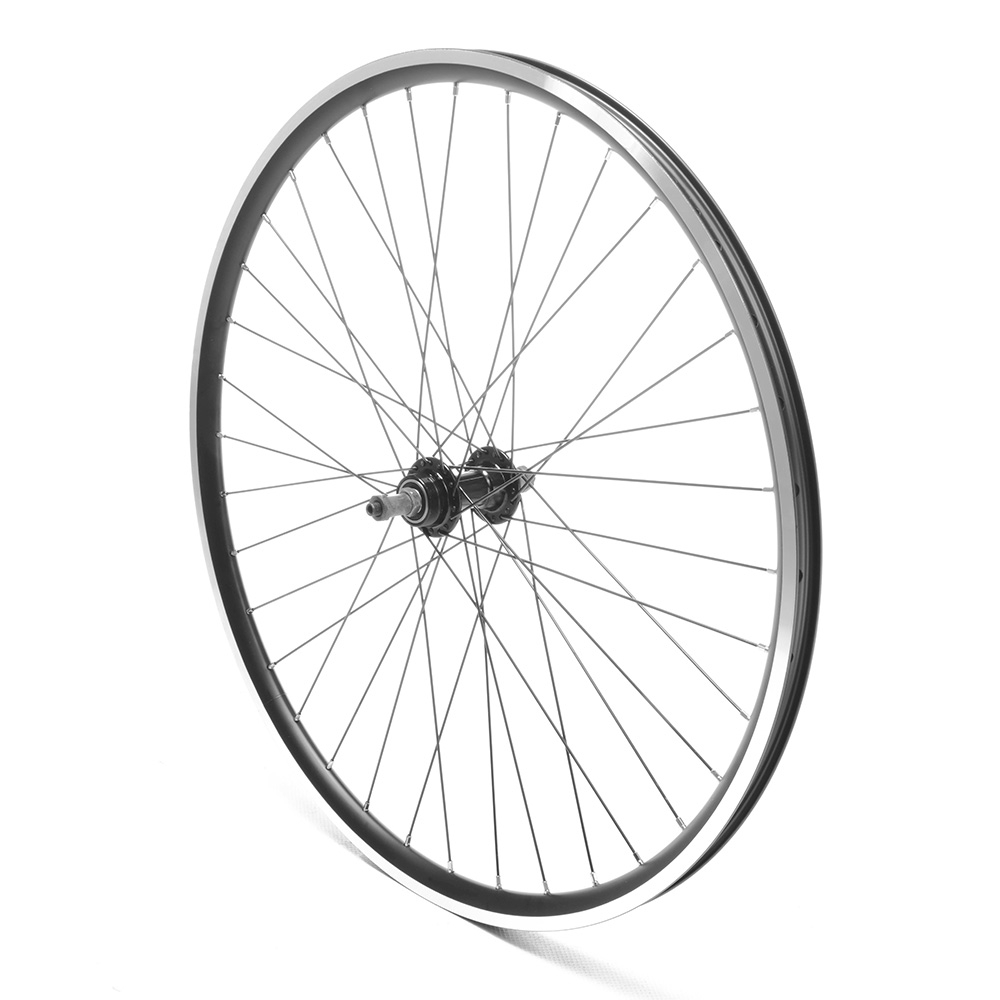 Rear Wheel 26'' MTB Black Double Wall QR V-Brake