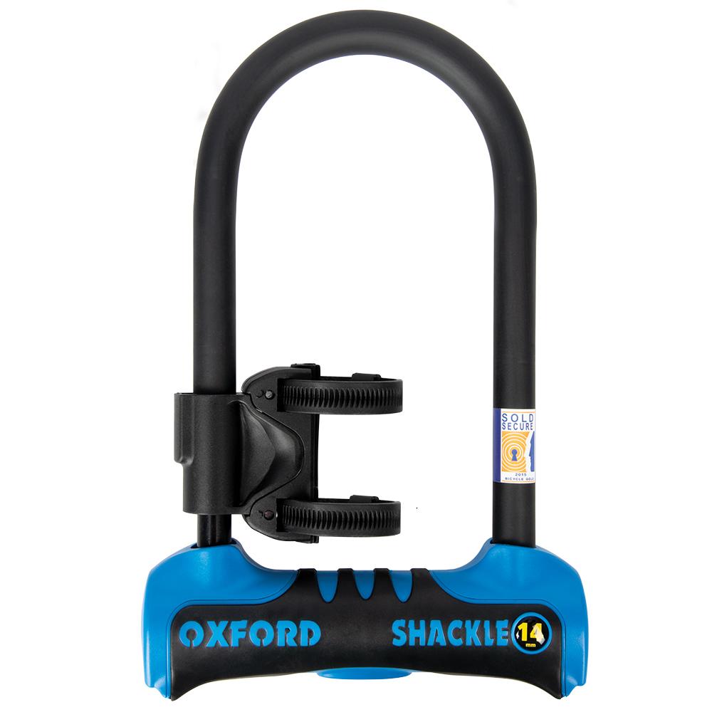Oxford Shackle 14 U-Lock 260mm x 177mm Blue