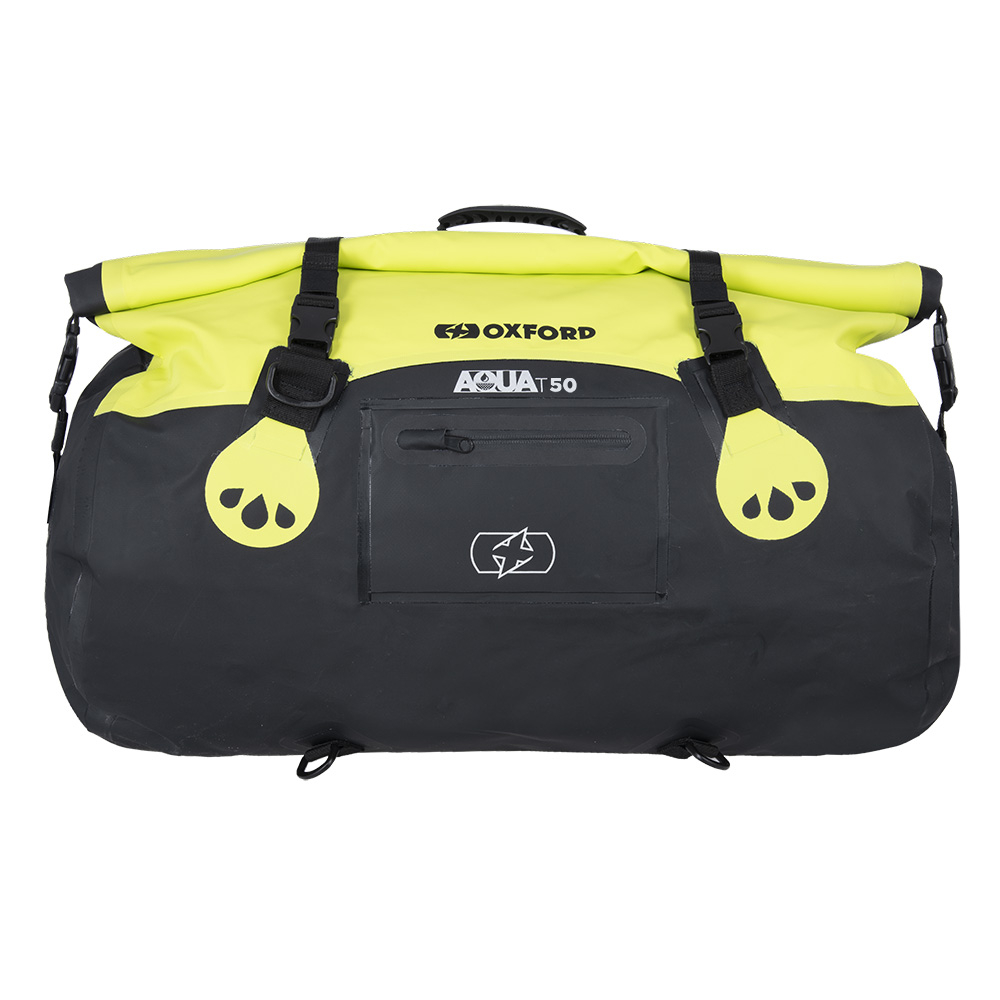 Oxford AQUA T-50 ROLL BAG - BLACK/FLUO