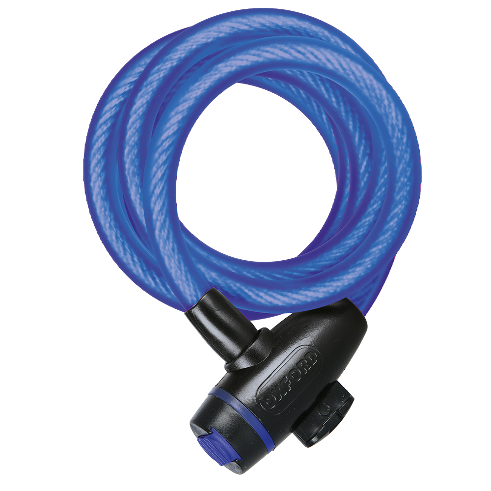 Oxford Cycle Bike Cable12 /& Quick Release Bracket Cable Lock Smoke Clear or Blue