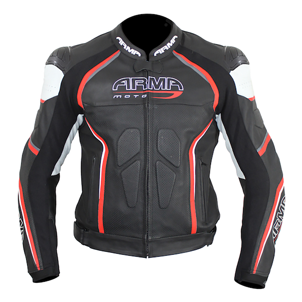 ARMR Harada R Leather Jacket - Black & Red