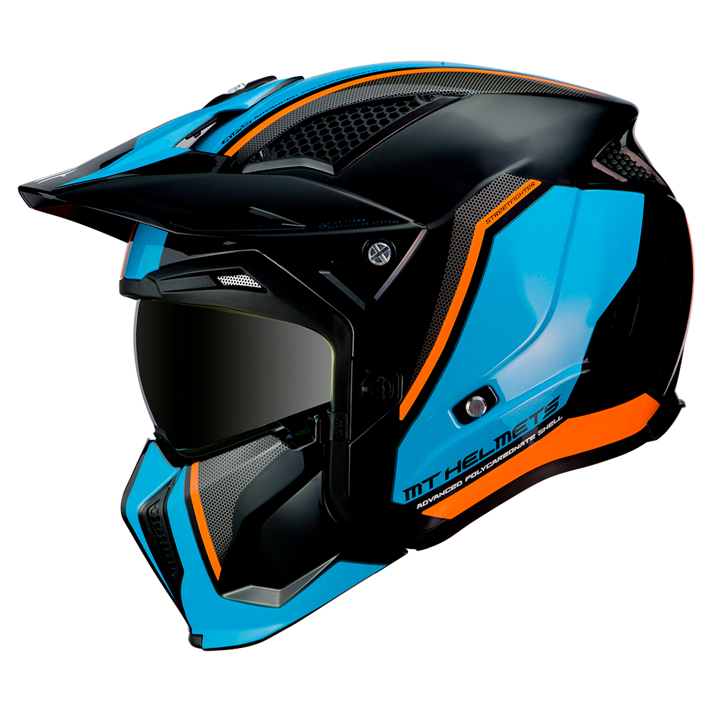 MT Streetfighter Twin Black & Blue & Orange