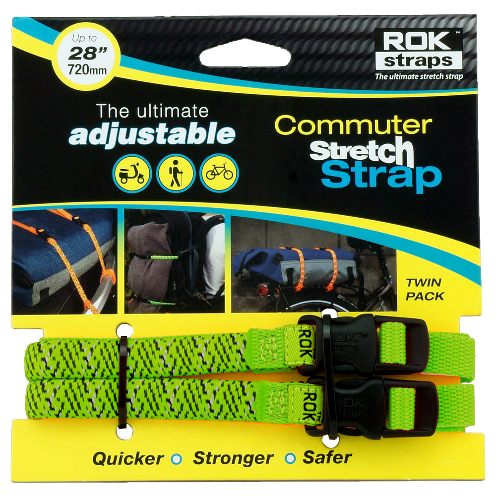 RoK Straps LD 12mm Adj Green reflective