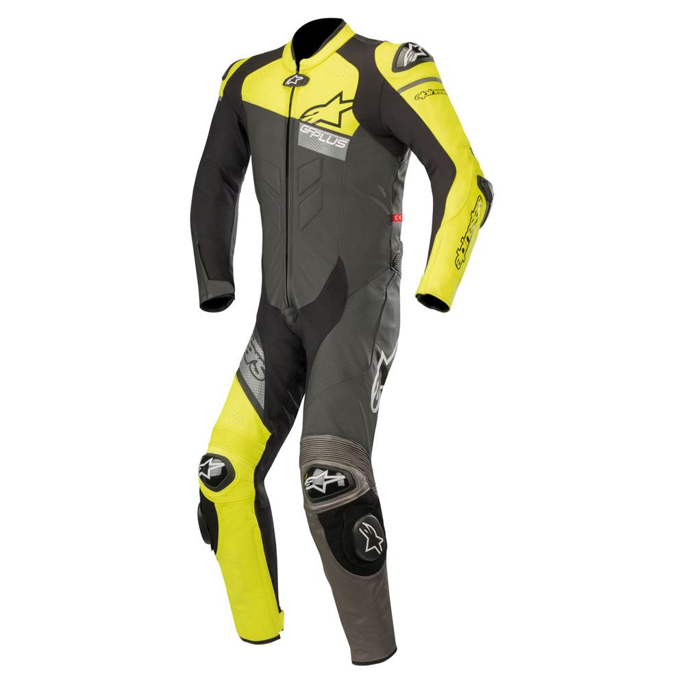 Alpinestars GP Plus Venom 1 Piece Leather Suit Black Yellow & Grey
