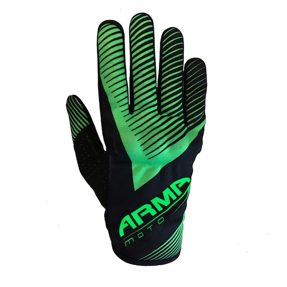 ARMR MX8 Motocross Glove - Black & Green