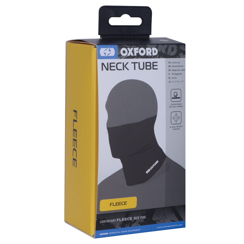 Oxford Neck Tube Fleece - Black
