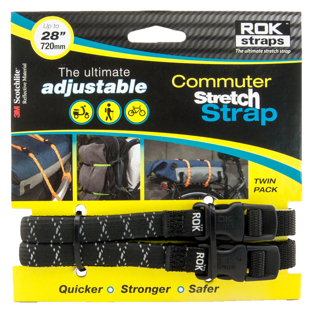 RoK Straps LD 12mm Adj Black reflective