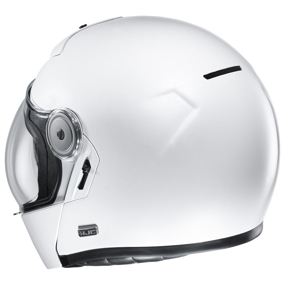 L Blanc Motorcycle helmets HJC C70 White Pearl//PEARL WHITE
