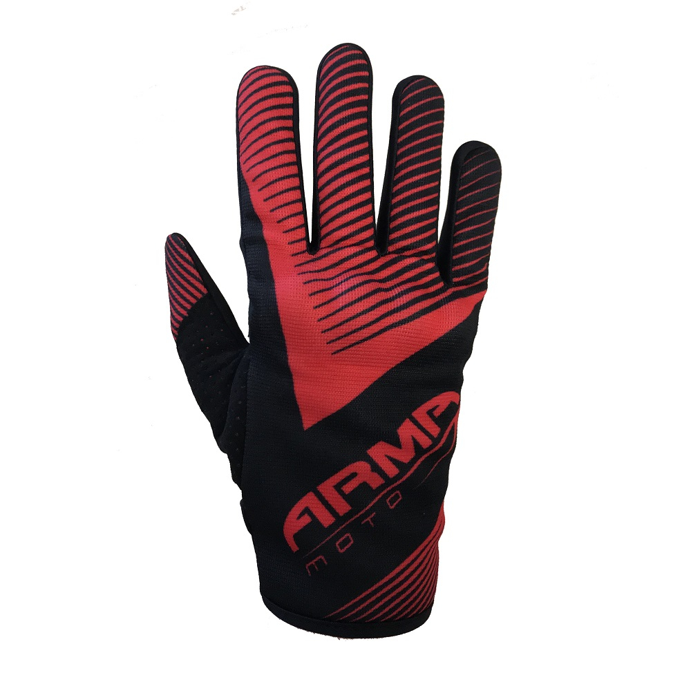 ARMR MX8 Motocross Glove - Black & Red
