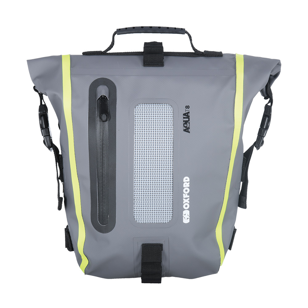 Oxford AQUA T8 TAIL BAG - BLACK/GREY/FLUO