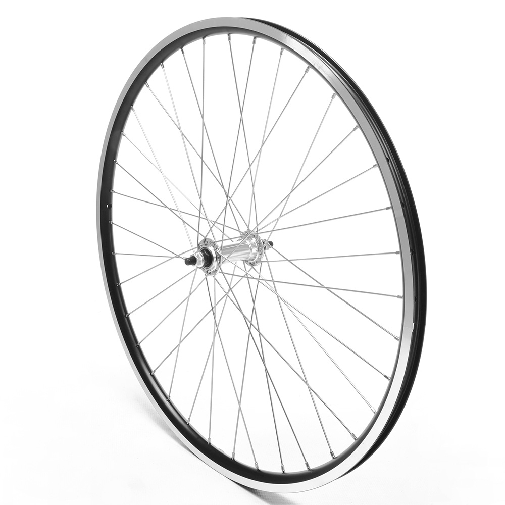 Front Wheel 26'' MTB Black Double Wall Nutted V-Brake
