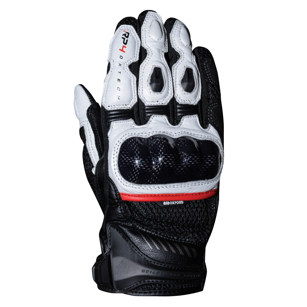 Oxford RP-4  Sports Short Gloves Black & White